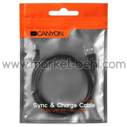 Кабел Canyon CNE-USBM1B USB to MicroUSB cable 1m