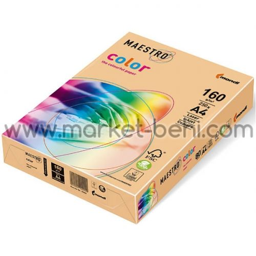 Цветен картон IQ Color Златист №22 А4 250 л.